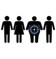 Diabetes targeting overweight people vector image
