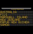 australia country digital board information vector image