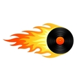 Flaming vinyl vector image