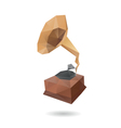 Gramophone abstract isolated vector image vector image