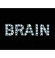 Diamond word brain vector image