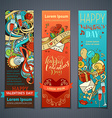 Set of vertical Valentines banners vector image