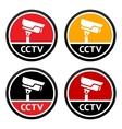 cctv pictogram set sign security camera vector image vector image