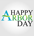 Celebrating Arbor Day vector image