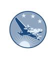 Vintage Propeller Airplane Retro vector image vector image
