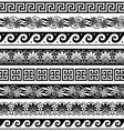 Ancient Greek pattern - seamless set vector image