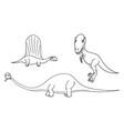 cartoon set 03 of ancient dinosaur monsters vector image