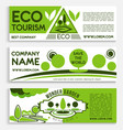 eco travel and tourism banner template design vector image