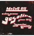 Gasoline vintage stamp vector image
