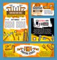 home repair sketch work tools poster vector image
