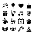 Party and Celebration icons vector image
