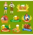 germany beer festival oktoberfest bavarian beer vector image