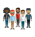friends men happy together icon vector image
