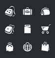 set of bags icons vector image