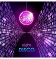 Neon disco ball vector image