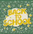 welcome back to school poster back to school text vector image vector image