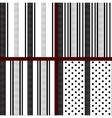 black and white vertical striped polka dot vector image
