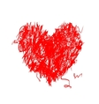 Heart shape pencil drawing for your design vector image vector image