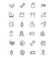 Sports Hand Drawn Doodle Icons 2 vector image