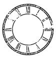 vintage clock vector image