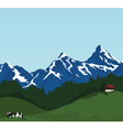 beautiful mountain landscape vector image