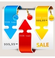 bookmarks and labels vector image vector image