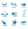 Abstract logo set vector image