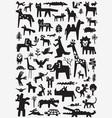 animals doodle set vector image