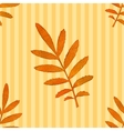 Autumn watercolor leaf seamless pattern vector image