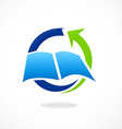 book education arrow process logo vector image