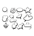 bubble speech icons vector image
