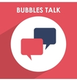 bubbles talk vector image