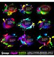 grunge bubble drops vector image