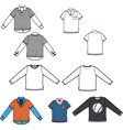 set of tees vector image