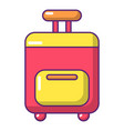 travel bag icon cartoon style vector image
