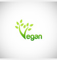 vegetarian organic logo vector image