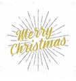 Merry Christmas lettering Holiday typography vector image