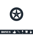 Tire icon flat vector image