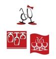 Alcohol glasses for bar menu design vector image vector image