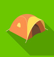 tent tourist with awningtent single icon in flat vector image