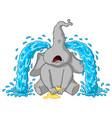 Elephant sobs big tears cartoon vector image