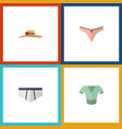 flat icon clothes set of underclothes lingerie vector image