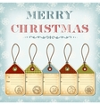 Christmas template of vintage tags with stamps vector image