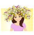 Woman in wreath vector image vector image