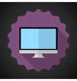 Designer Computer Desktop Flat Icon with long vector image vector image