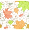 Autumn Fallen Leaves Hand Drawn Pattern vector image