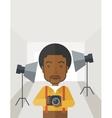 Photographer in studio vector image