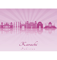 Karachi skyline in purple radiant orchid vector image vector image
