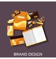 Brand Design Branding Concept Flat vector image vector image