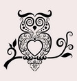 Owl ornament vector image